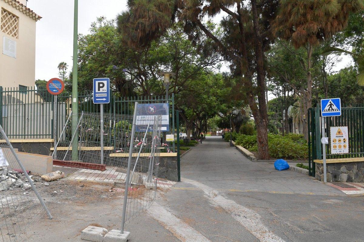 Entrada del parque Doramas