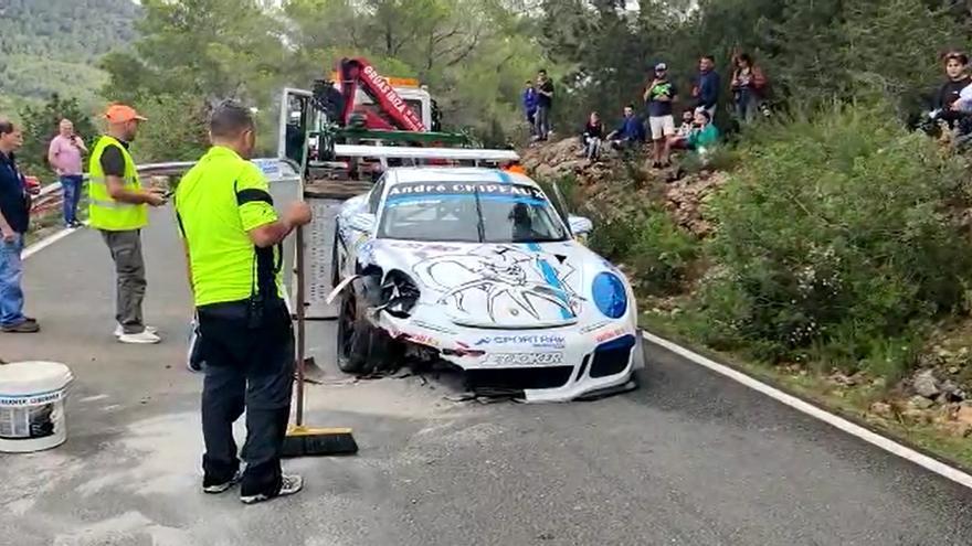 El belga Humberto Janssens sufre un accidente en el segundo día de la Pujada a sa Cala