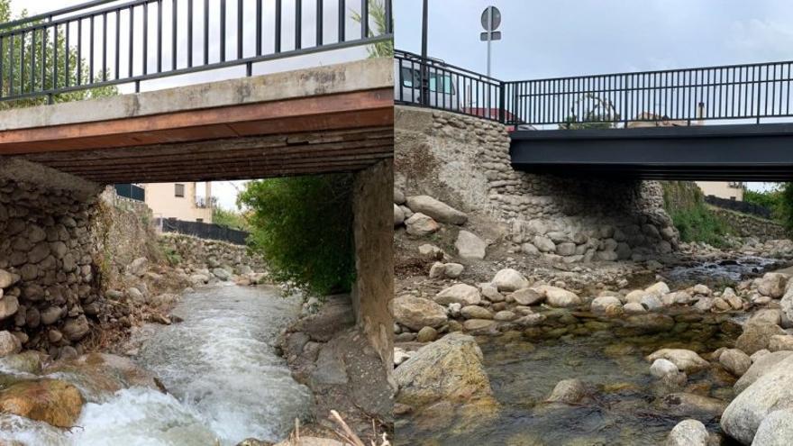 La diputación repara el puente sobre el arroyo de Gargantilla