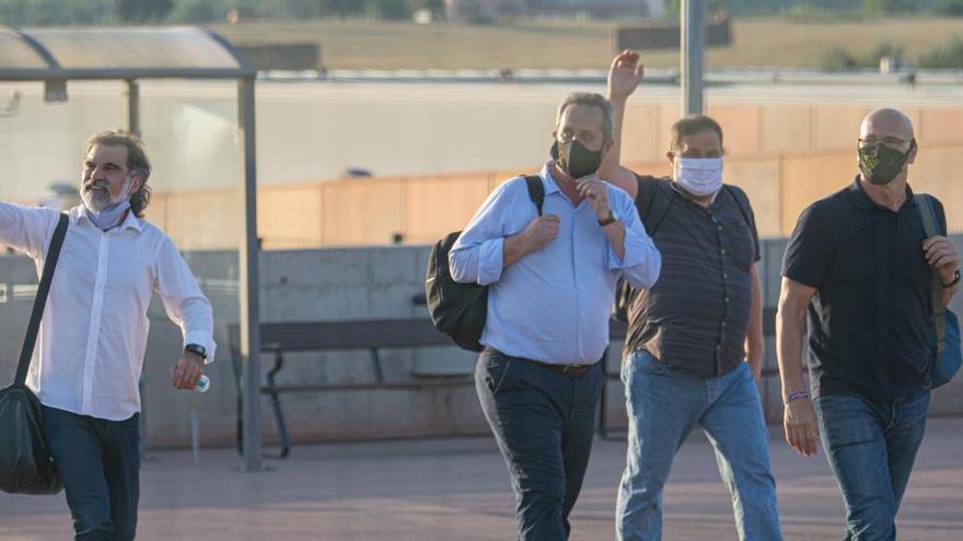 La juez mantiene suspendida la semilibertad de los presos del 'procés'