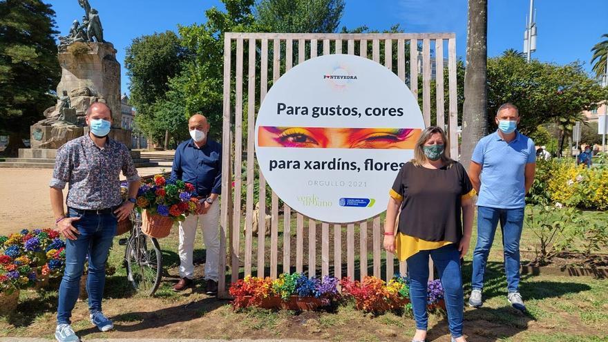 Los jardines de Pontevedra se suman a la celebración del mes del Orgullo
