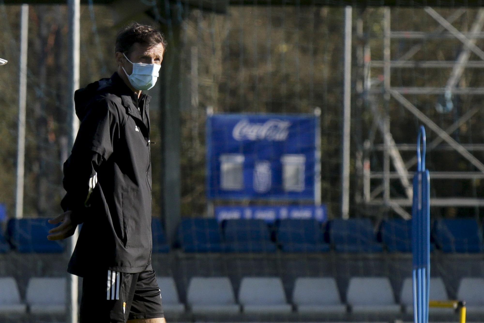 El último entrenamiento del Oviedo antes de recibir al Fuenlabrada