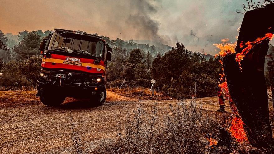 """Azuébar tiene intactas sus casas pero es """"un horno"""", según vecinos"""