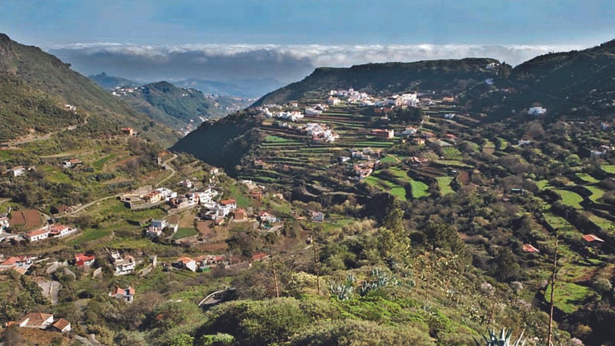 Imagen actual del caserío de Las Lagunetas, en la zona del Palmar, en el municipio tinerfeño de Buenavista del Norte.