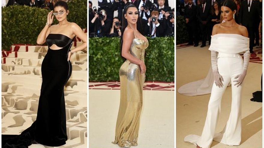 El cambio radical de las Kardashian en la Gala Met 2018
