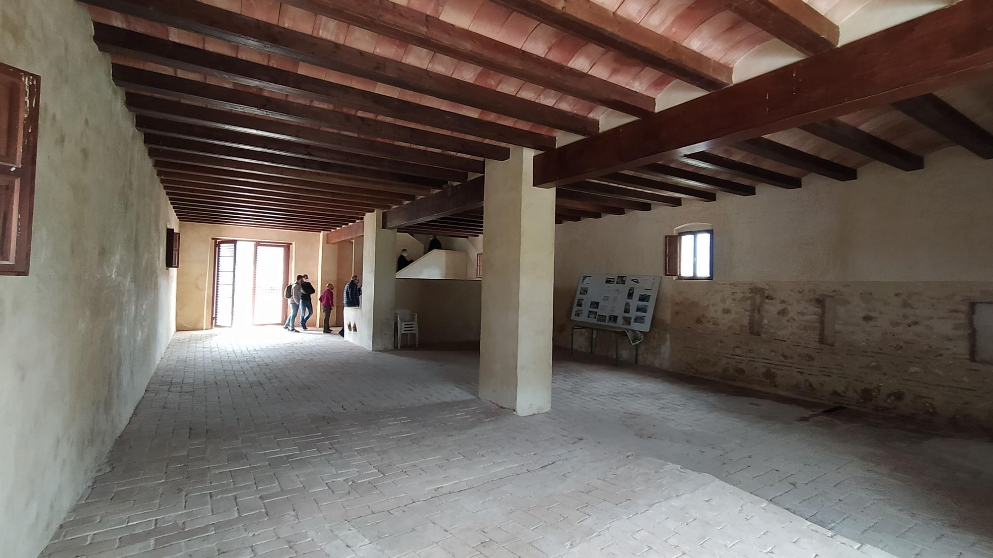 Vista general de la planta baja del molino