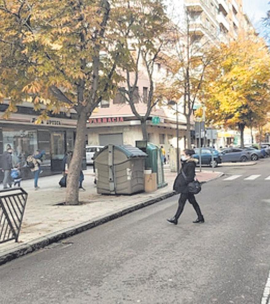 Viandantes en la avenida Príncipe de Asturias de Zamora.