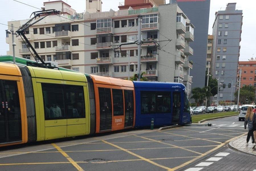 Colisión de un turismo con el tranvía