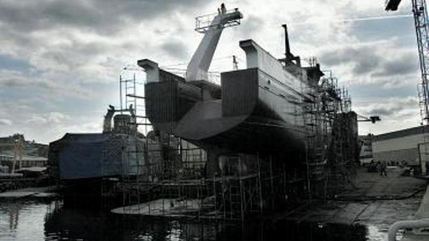 Armón comienza a construir en Navia su primer barco propulsado por hidrógeno
