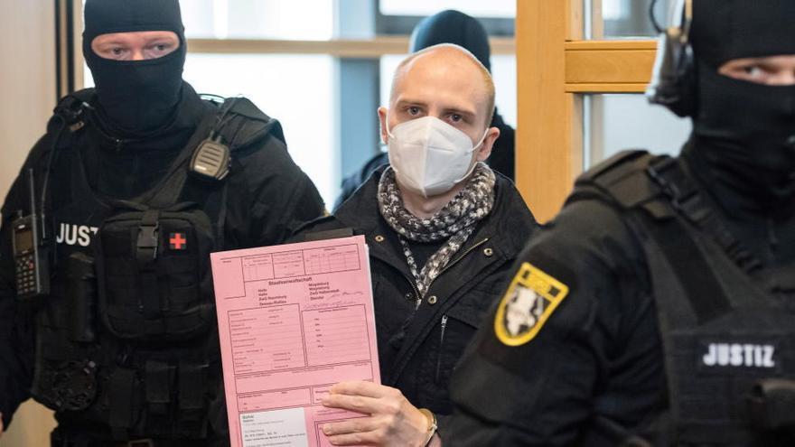 Cadena perpetua para el autor del ataque antisemita de Halle, con dos muertos