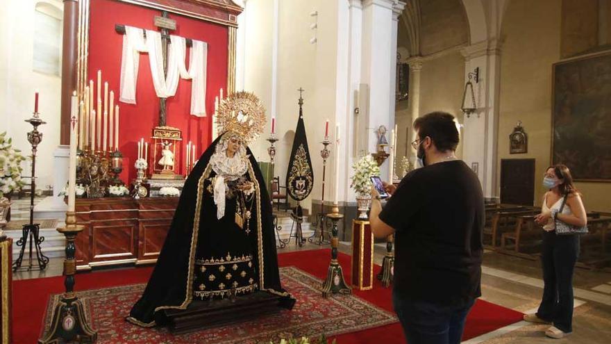 La Virgen de la Soledad ya está en su sede, la parroquia de Guadalupe