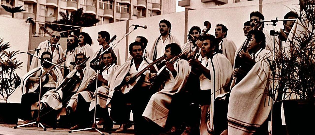 Agrupación folclórica Los Guanijay, ya desaparecida.