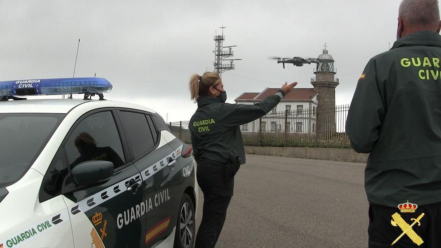 La Guardia Civil de Gijón incorpora un dron para reforzar labores de vigilancia
