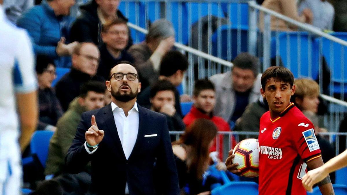Bordalás encajó 43, 37, 35 y 33 tantos en sus cuatro temporadas en primera con el Getafe.  | EFE