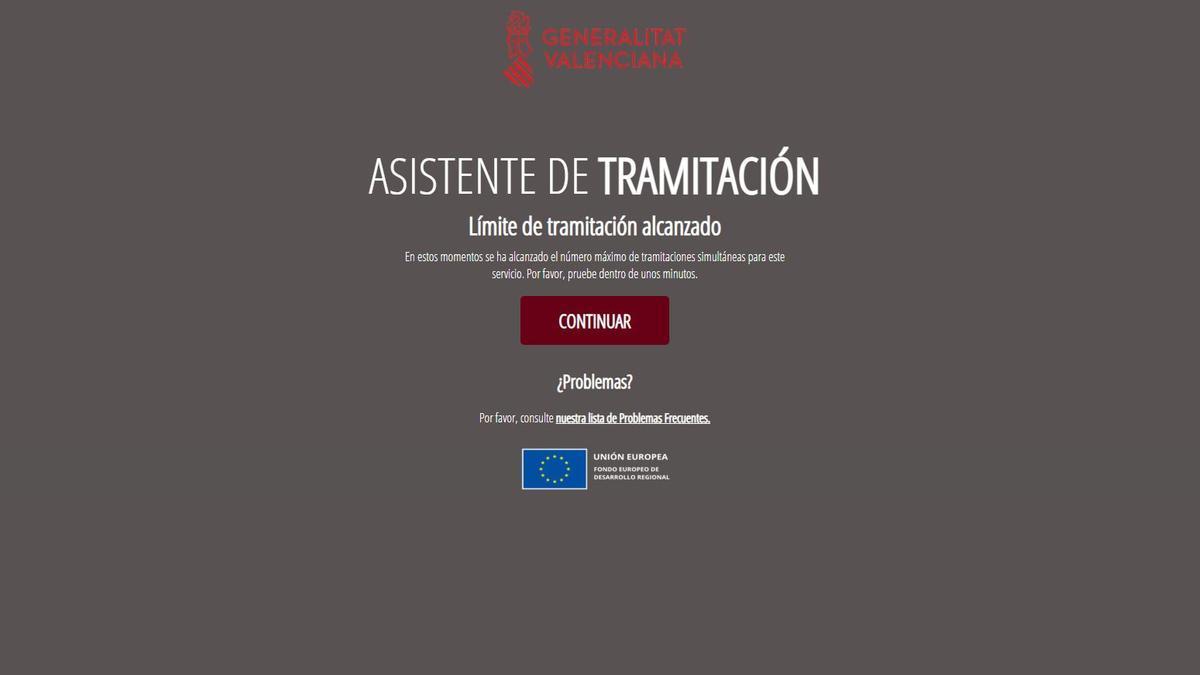 Se colapsa la web para pedir el bono turístico en la Comunitat Valenciana