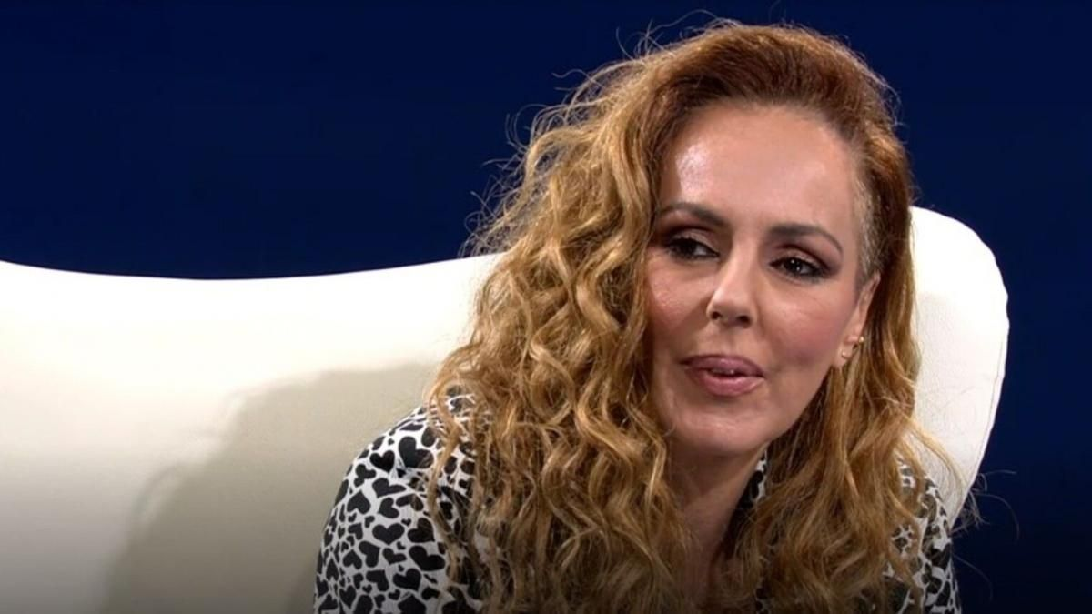 Rocío Carrasco durante una de sus intervenciones en Telecinco.