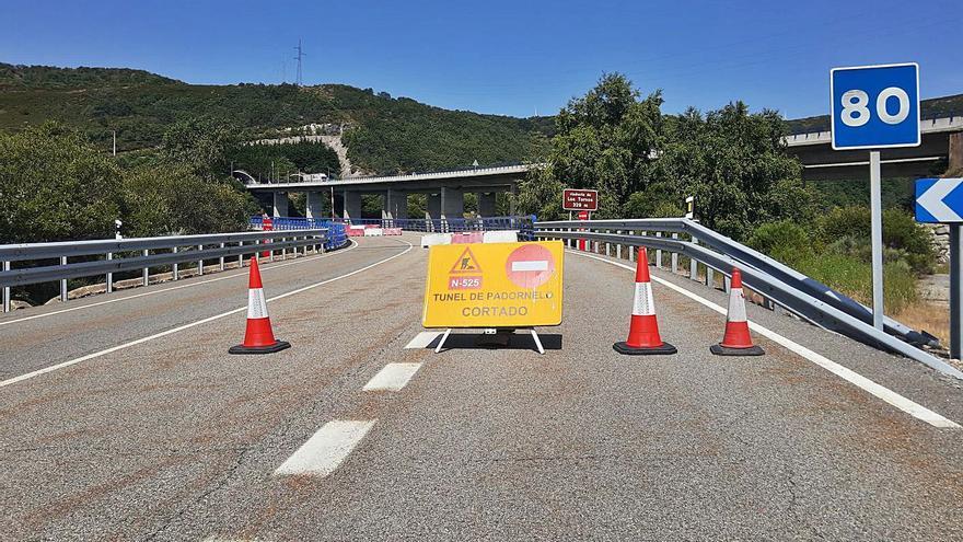 Cortado al tráfico el túnel del Padornelo para mejorar la seguridad