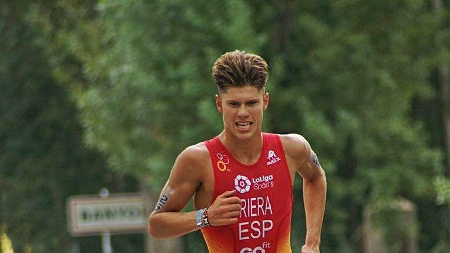 El manresà Miqui Riera és dissetè a la Copa d'Europa de triatló a Banyoles