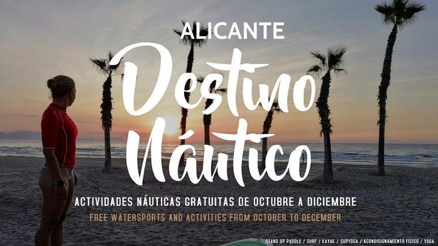 Actividades deportivas gratuitas en el Postiguet y San Juan como reclamo turístico de la ciudad