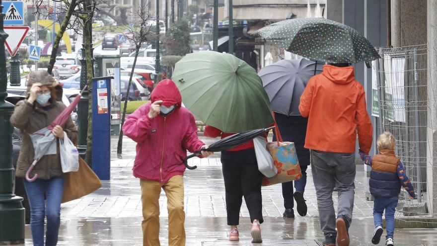 Galicia vive el invierno con más lluvia en veinte años
