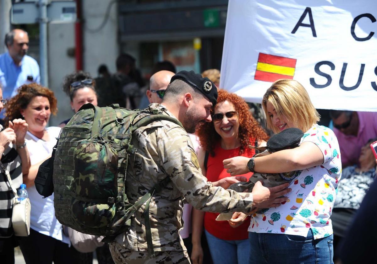 Los militares de la Guzmán el Bueno X desplegados en Irak regresan a casa