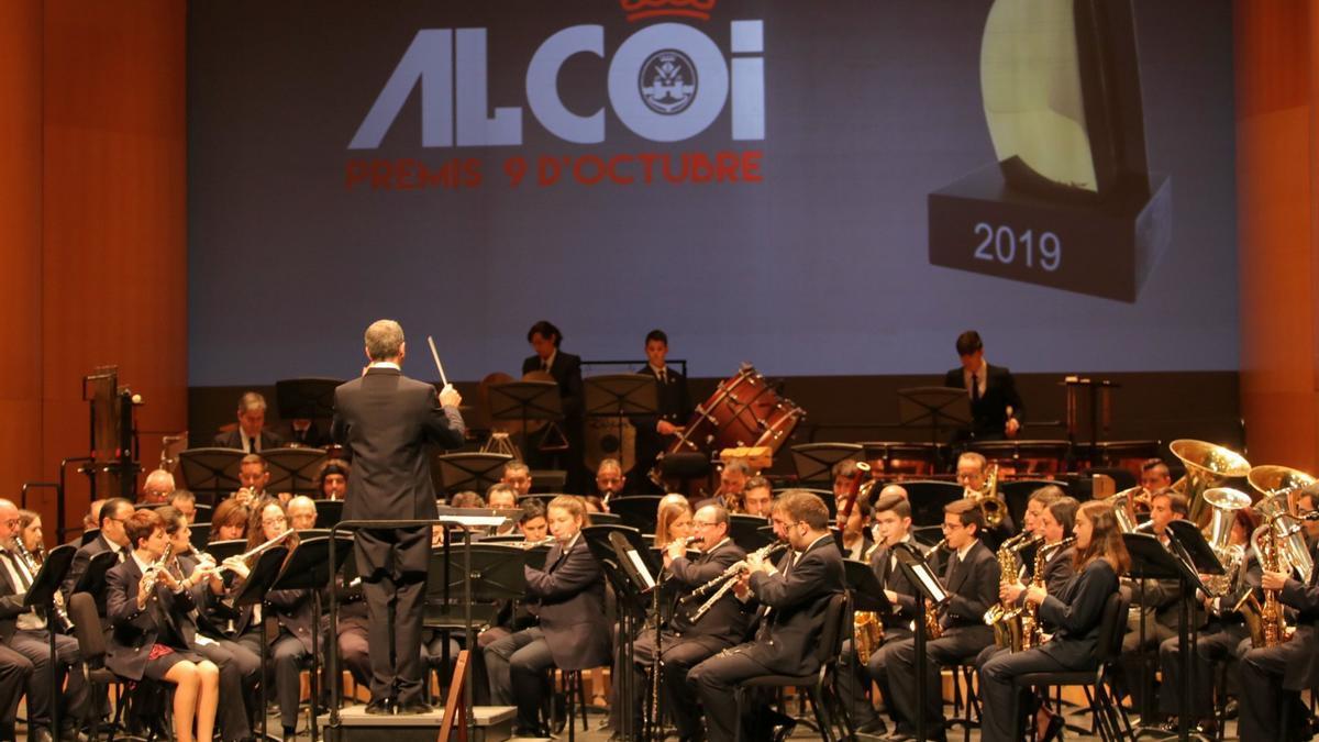 Concierto en la celebración del 9 d'Octubre del año pasado en Alcoy.