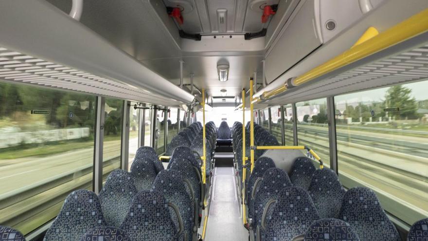 Autobús de línea de Valladolid.