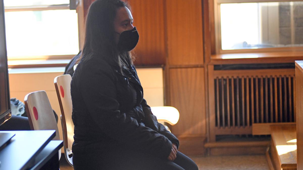 La joven María Fernanda, en el banquillo de los acusados en marzo de este año.