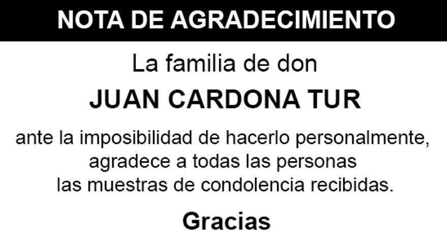 Nota Juan Cardona Tur