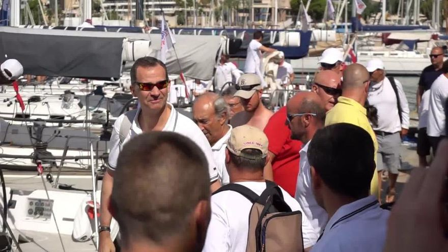 Copa del Rey de Vela: Felipe VI se embarca en el Aifos