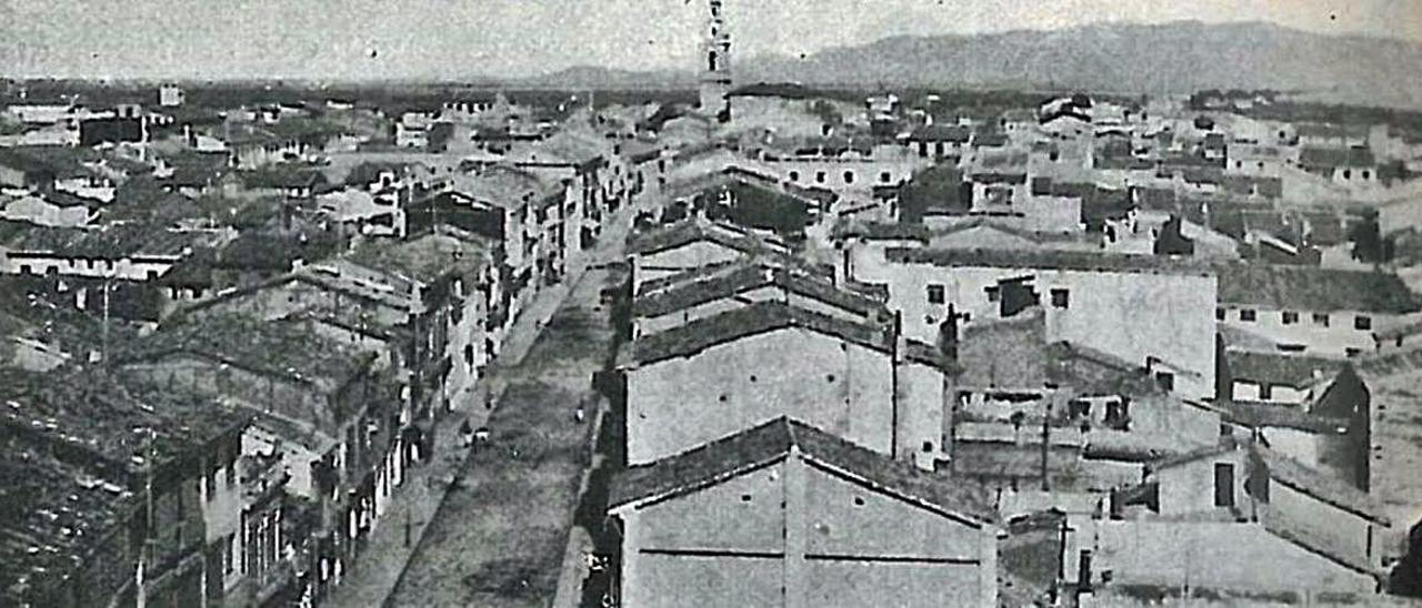 Imatge aèria de la Sueca de principis del segle XX.