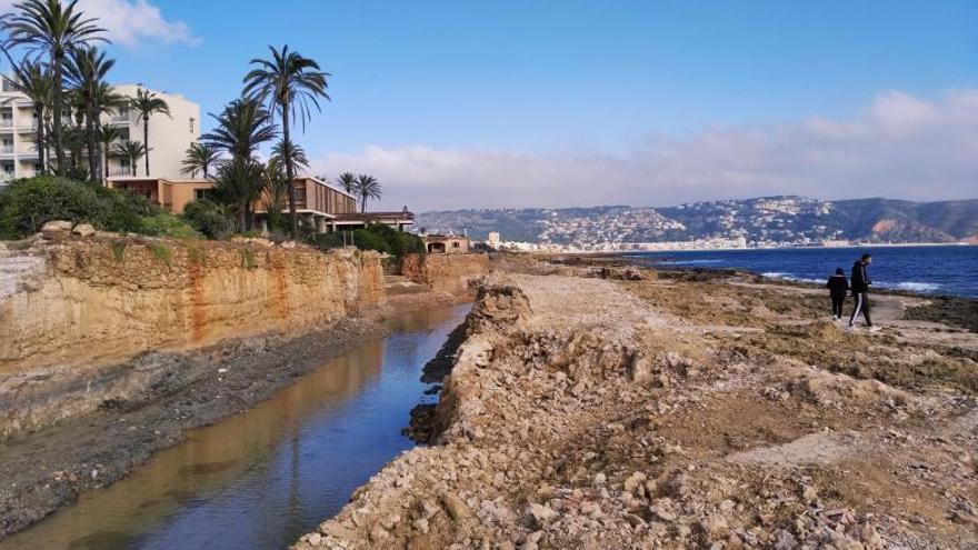 Una costa liberada en Xàbia tras 60 años