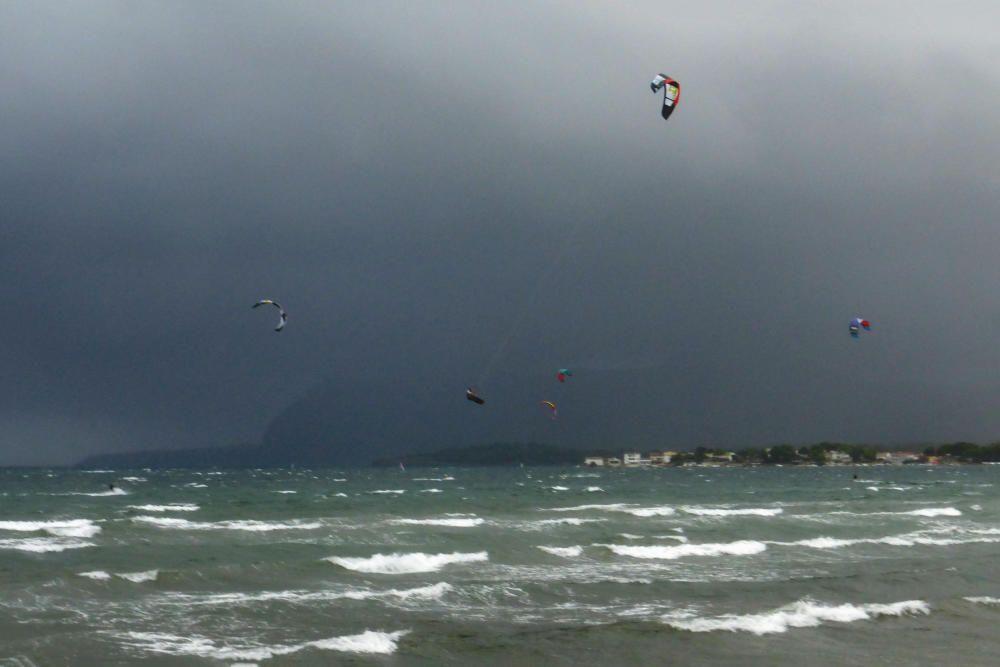 ... einige haben die Gelegenheit auch für sportliche Betätigung genutzt ;-) Viele Grüße aus Port de Pollença.