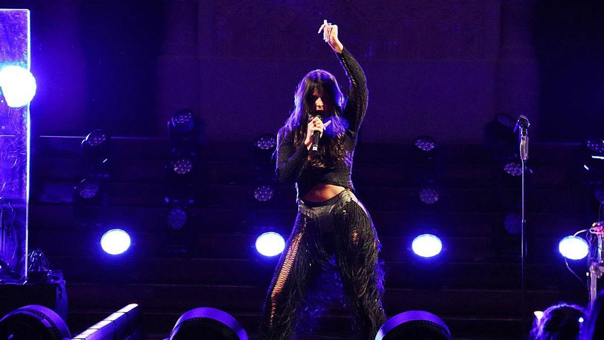 La cantant Nathy Peluso durant un concert el passat mes d'abril a Barcelona.  | MARIA ASMARAT/ACN