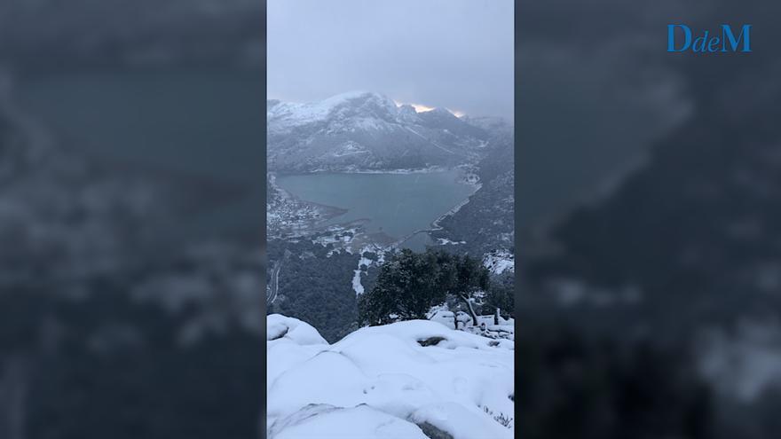 Así es la magia de la nieve en Mallorca