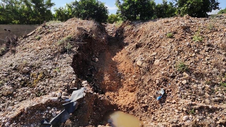Las lluvias arrasan con 2.000 hectáreas de cultivos en el norte de Castellón
