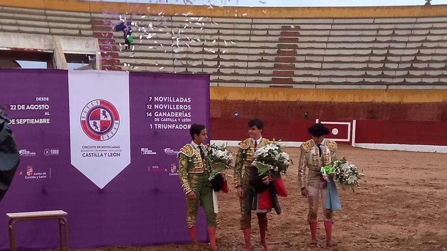 Daniel Medina, ganador de la final de la novillada sin picadores en Fuentesaúco