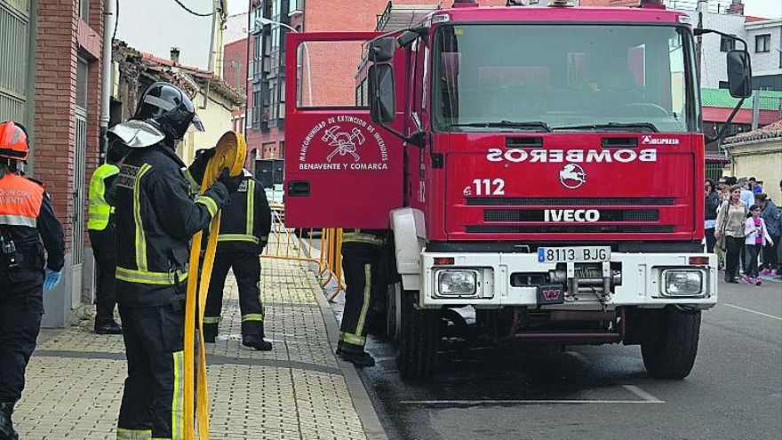 El balance de los servicios del parque de bomberos de Benavente recoge 543 actuaciones y 7.330 kilómetros recorridos