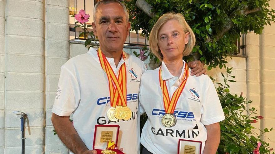 El vigués Jorge Candán y la pontevedresa Pilar Barros se proclaman campeones de España de Cine Submarino