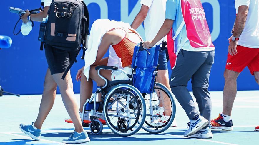 Paula Badosa es retira a quarts de final afectada per la calor