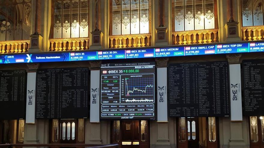 El Ibex 35 alcanza los 8.200 puntos al cierre con una subida del 1,84%