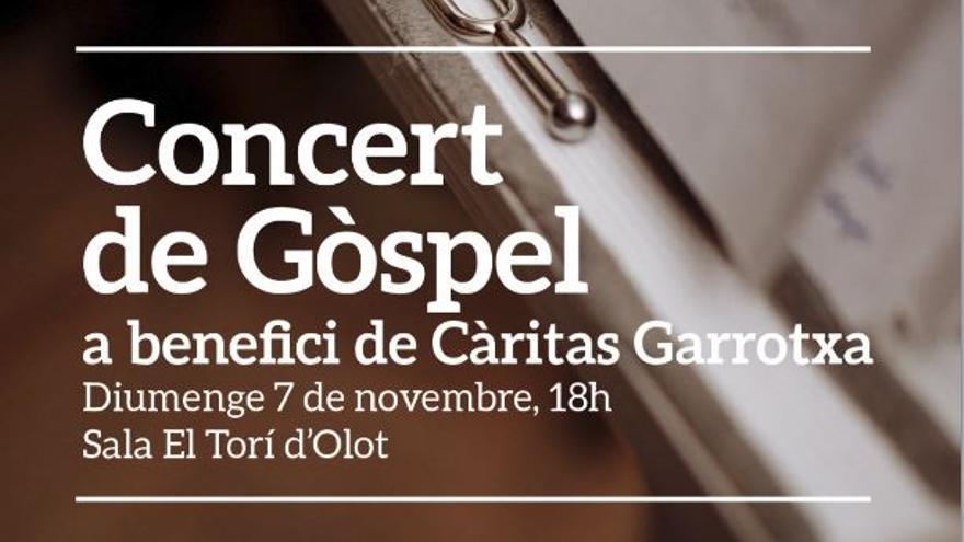 """Concert solidari amb els grups """"Cor Gospel Girona"""", """"Tam Tam Gospel"""", de Vic i """"Gospel Cor Garrotxa"""""""