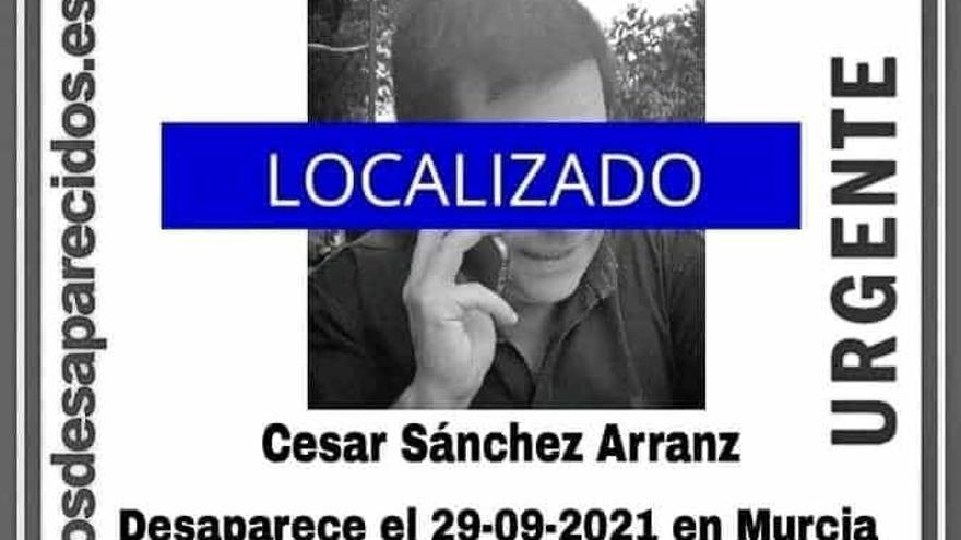 Localizado el hombre que desapareció el pasado lunes en Murcia
