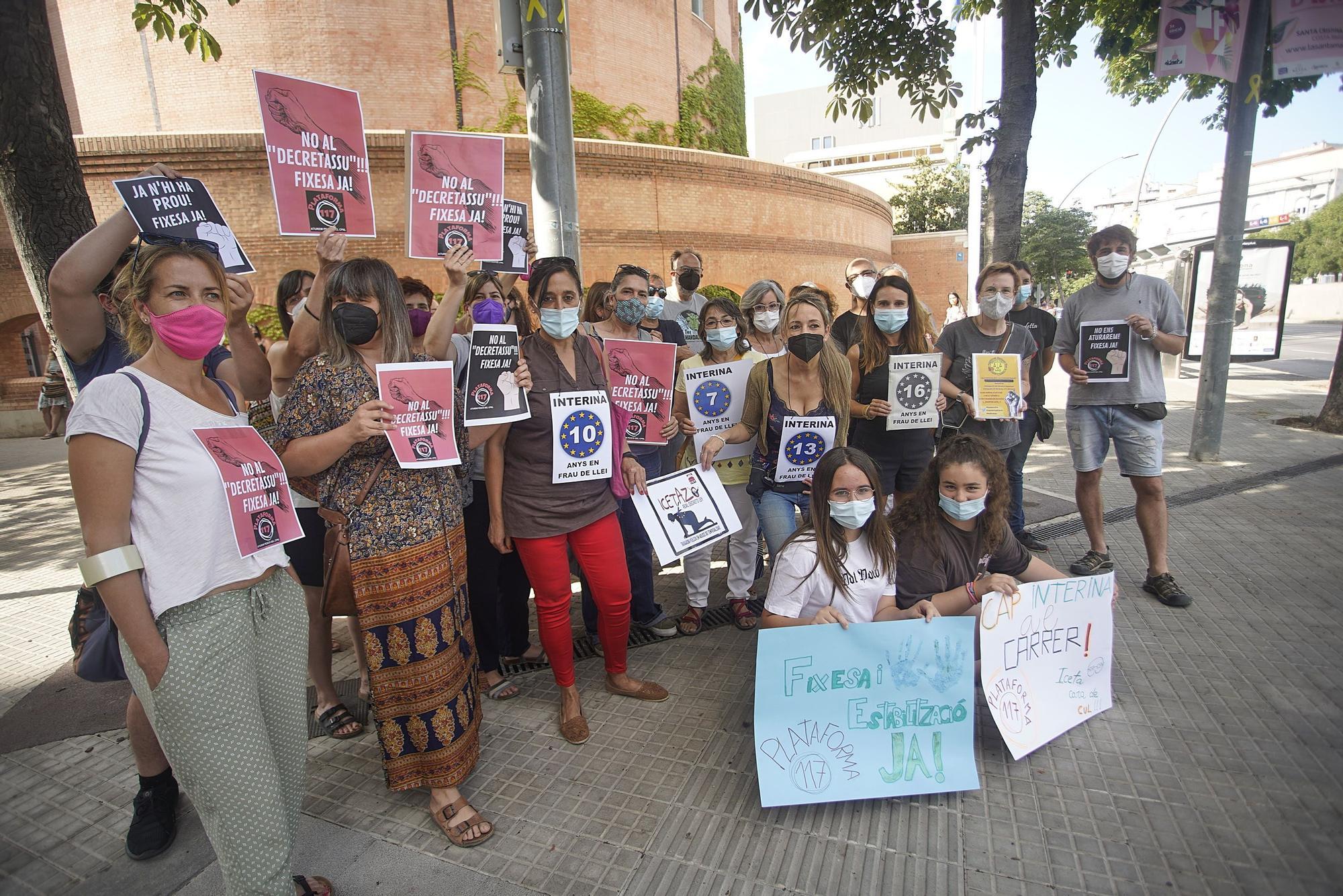 Protesta a Girona contra la llei «Iceta»