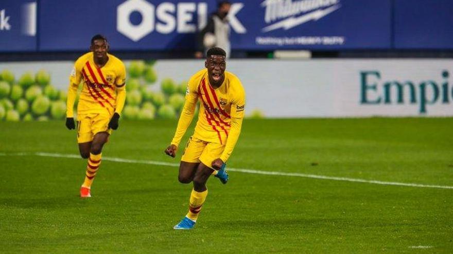 Un Barça sense ressaca compleix a El Sadar (0-2)