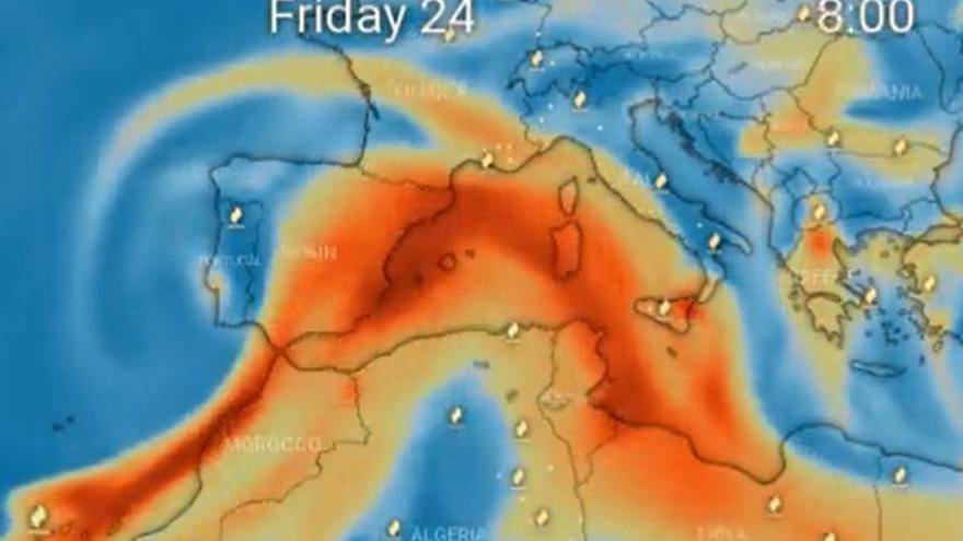El dióxido de azufre del volcán llegará a Córdoba el viernes, pero no supone ningún riesgo