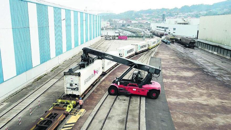 Actualmente el 15% de las mercancías en entrada o salida del recinto se transportan en ferrocarril