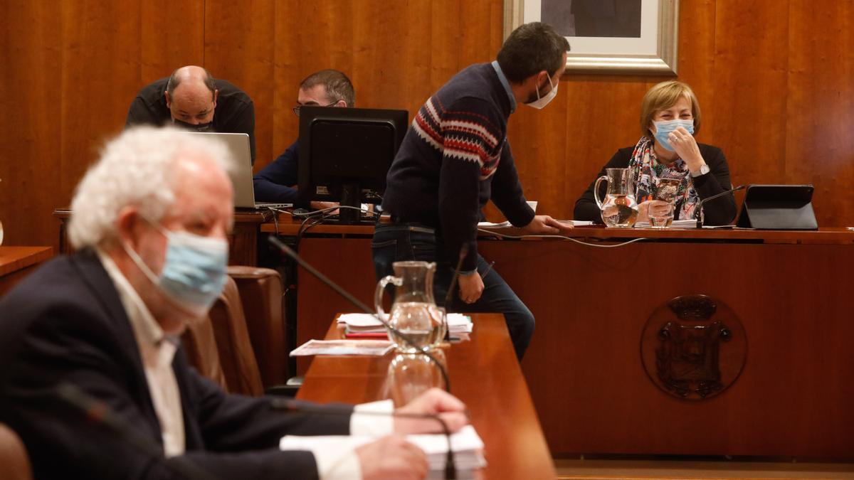 Una sesión plenaria en el Ayuntamiento de Avilés