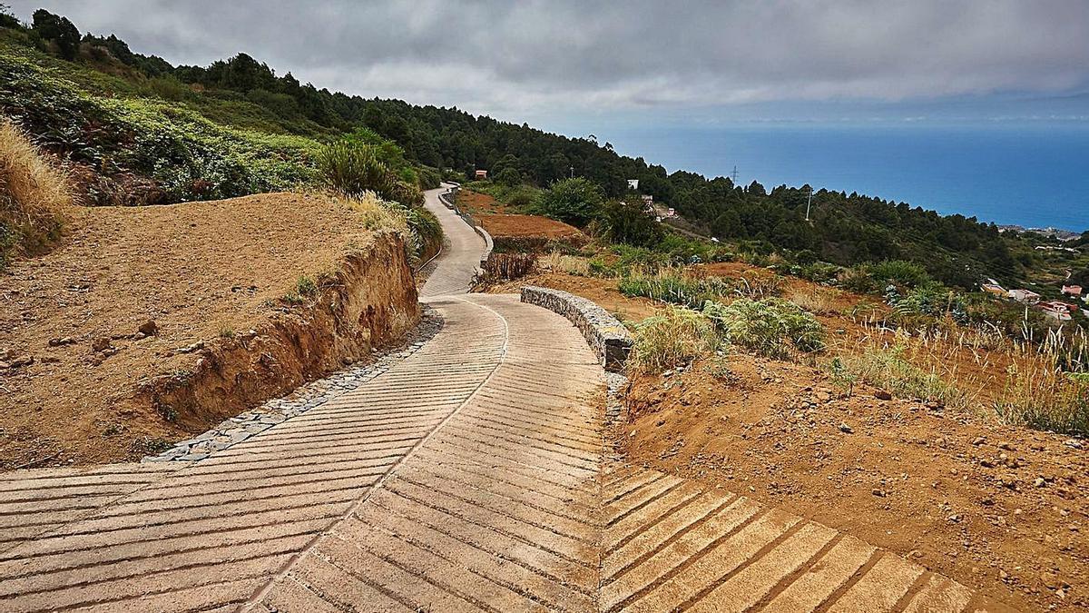 Pista agrícola en el norte de Tenerife.