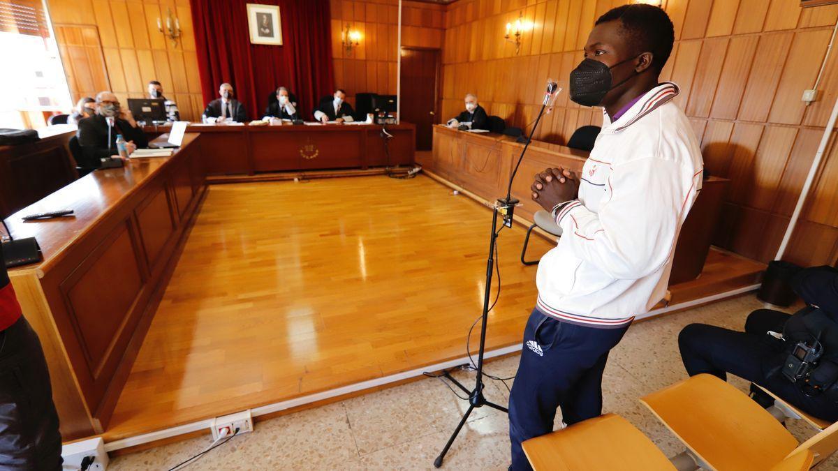 El acusado, este jueves en un momento de su declaración en la Audiencia.